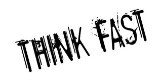 Think Fast rubber stamp Stock Photography