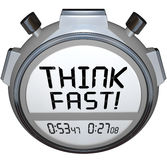 Think Fast Timer Stopwatch Quiz Answer Contest stock illustration