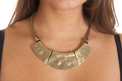 Think gold necklace Royalty Free Stock Photos