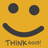 Think good. Abstract smiley background Stock Photos