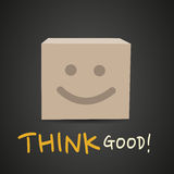 Think good cardboard box Stock Photography