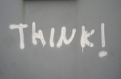 Think ! Graffiti Stock Image