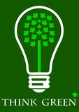 Think green. Save energy and care about the environment Royalty Free Stock Photography