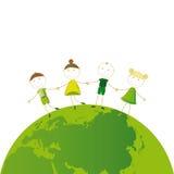 Think green stock illustration