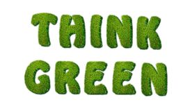 Think green. Royalty Free Stock Images