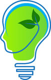 Think green. A vector drawing represents think green design Stock Image
