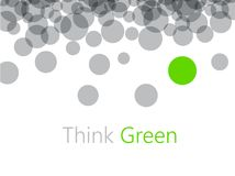Think green abstract background. Vector ecological illustration Royalty Free Stock Photography