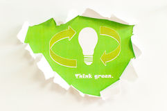 Think green! Royalty Free Stock Photo