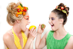 Think Green! Beautiful Women Royalty Free Stock Images