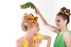 Think Green! Beautiful Women Royalty Free Stock Photos