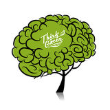 Think green. Brain tree concept for your design Royalty Free Stock Images