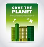 Think green with cityscape background Royalty Free Stock Photography