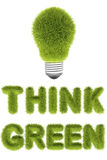 Think green concept Royalty Free Stock Photo