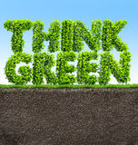 Think green concept Royalty Free Stock Images