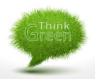 Think green concept on grass Stock Photos