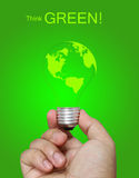 Think green concept Royalty Free Stock Photography