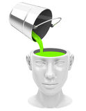 Think green. 3d generated picture of think green concept Stock Images
