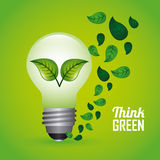 Think green design Stock Photography