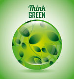 Think green design Royalty Free Stock Image