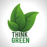Think green design Royalty Free Stock Photos
