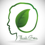 Think green design Stock Image
