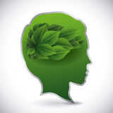 Think green design Stock Images