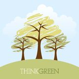 Think green design Royalty Free Stock Photo