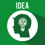 Think green. Design, vector illustration eps10 graphic Royalty Free Stock Photo