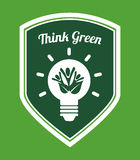 Think green. Design, vector illustration eps10 graphic Royalty Free Stock Image