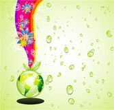 Think Green Earth Background Stock Image