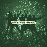 Think Green - Eco Background. Think Green - Abstract Eco Background in Freely Scalable & Editable Vector Format royalty free illustration