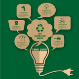 Think green ecology. Can used for web banner ,icon , flat symbol,infographic,data diagram Stock Images