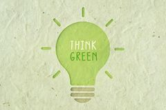 Think green - Ecology concept. Think green - Ecology and green energy concept Royalty Free Stock Images