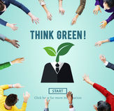 Think Green Ecology Environmental Conservation Concept Royalty Free Stock Photography