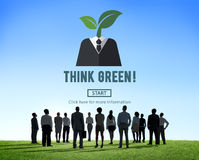 Think Green Ecology Environmental Conservation Concept Royalty Free Stock Images