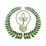 Think green energy. Icon vector illustration graphic design Royalty Free Stock Photo
