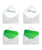 Think green envelopes Royalty Free Stock Image