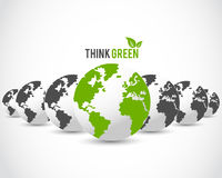 Think green globe concept Stock Image