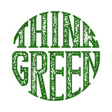 Think green grunge rubber stamp on white, vector illustration Stock Photo