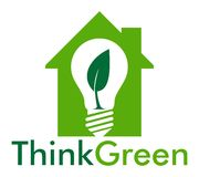 Think green in home Royalty Free Stock Photography