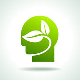 Think green Icon, save environment concept Stock Photo
