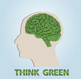 Think green Stock Photo