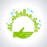 Think Green - Illustration in urban sense. Think Green - Illustration, in urban sense Royalty Free Stock Images
