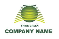 Think Green Logo Stock Photography
