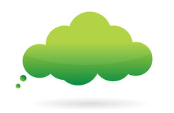 Think green message bubble. Illustration design over white Royalty Free Stock Image