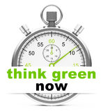 Think green now Royalty Free Stock Image