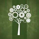 Think green. Over green background vector illustration Stock Photos