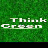 Think of green poster Royalty Free Stock Photos
