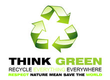 Think Green and Recycle Flayer Stock Images