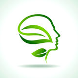 Think green save earth ecological concept Stock Photography